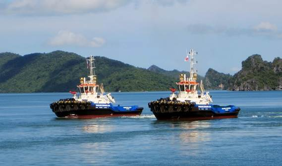 In September 2012 two ASD 2810 Tugs sailed from Vietnam to Panama, for delivery to MMG Shipping Group.
