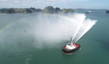 delivery of damen asd tug 2813 'gioia star' to con.tug
