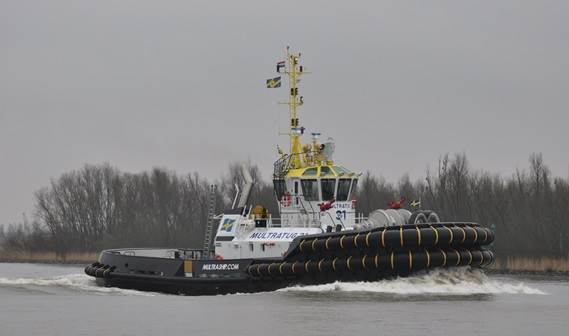 Multraship has taken delivery of a new ASD Tug 3212, named