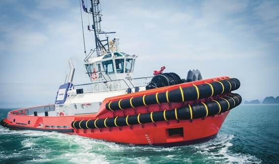 This powerful ship handling tug has been purposely designed for worldwide use and to operate in wave heights of up to 3 metres in exposed locations.