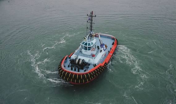 Thi is an excellent tug for assisting in offshore conditions at loading stations for the mining industry in the open sea.