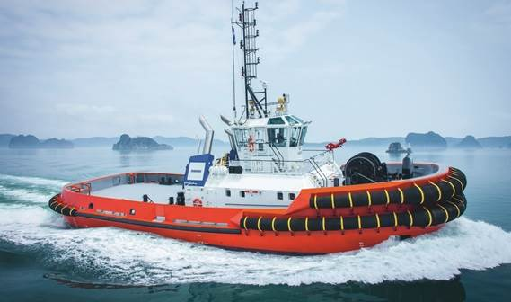 The ASD Tug 3212 has a completely revised hull form with a more pronounced