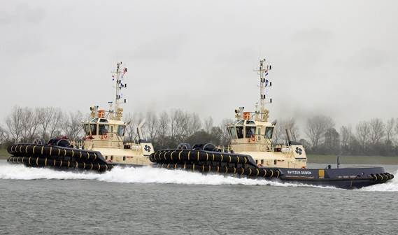 Svitzer has taken delivery of two Damen ASD 3212 tugs