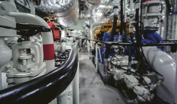 Safe working conditions, optimal accessibility and easy maintenance were all crucial elements when Damen designed the engine room.