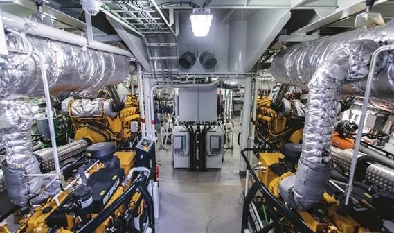 Damen's asd tug 3212 has a spacious engine room to facilitate easy maintenance.
