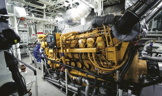 The main engines are Caterpillar 3516C HD+TA/D, giving a maximum 1,800 RPM and a very quick acceleration.