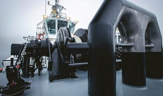 The winch has been built to operate in waves of up to 3 metres high over a six second wave period.