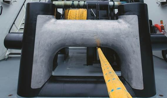 Everything is fully rounded to make the bitt as smooth as possible to prevent wear and tear of the towline.
