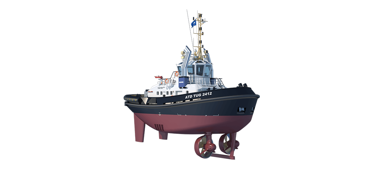 ATD Tugboat 2412 Twin Fin  is powerful yet extremely compact.