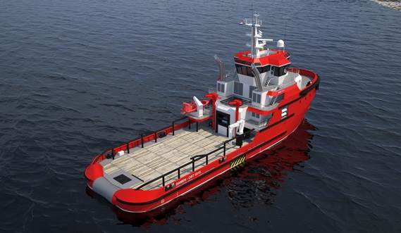 The vessels are fitted with azimuthing stern drives which can be driven by various power configurations