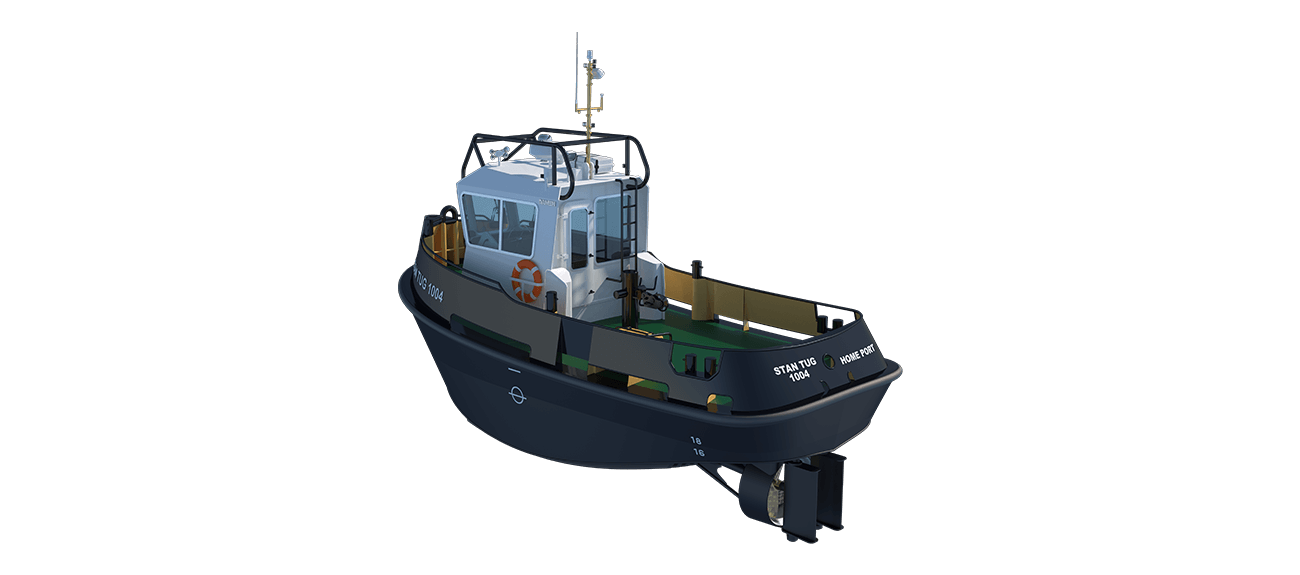 Damen Stan Tug 1004 has excellent seakeeping behaviour, superb manoeuvrability and outstanding towing characteristics