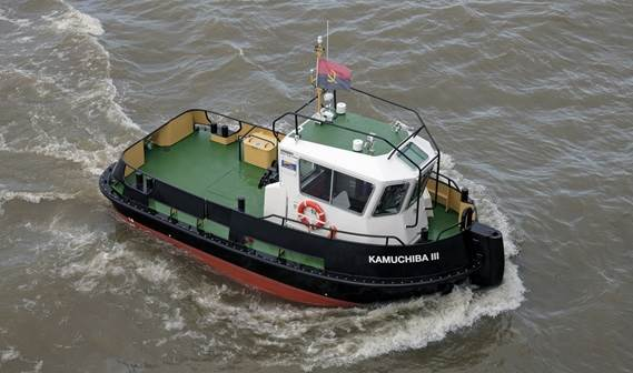 In December 2011 the Damen Stan 1004 Tug 1004 'Kamuchiba lll' was delivered.