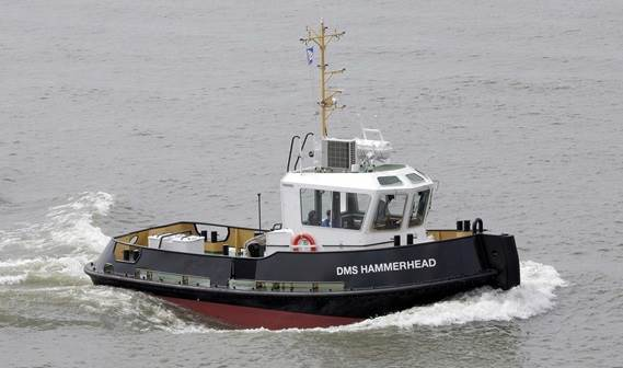 On 24th August 2011 the Damen Stan 1205 Tug 'DMS Hammerhead' was successfully delivered to Damen Marine Services.