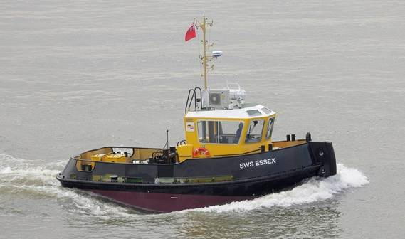 'SWS Essex' is the first newbuild tug the company has ever purchased as part of its strategy to transport more cargo by water than by road.