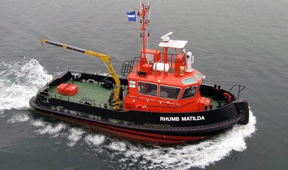 In March that year the orange coloured Stan 1606 Tug 'Rhumb Matilda' was handed over to the proud owners Rhumb Maritime of Melbourne, Australia.