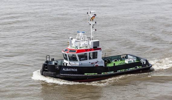The 16.76 metre Stu 1606 will assist Bremenports' own bucket dredger in maintenance dredging works