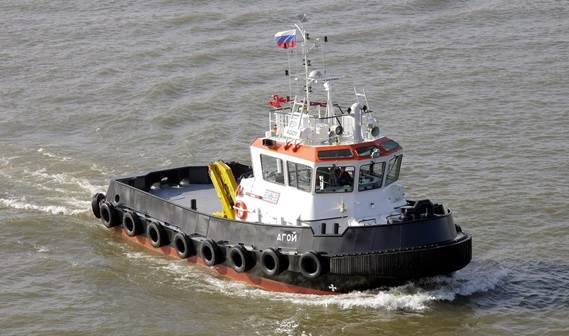 Two Stan 1907 Tugs,'Agoy' and 'Dedal', were delivered to the Tuapse Commercial Seaport.