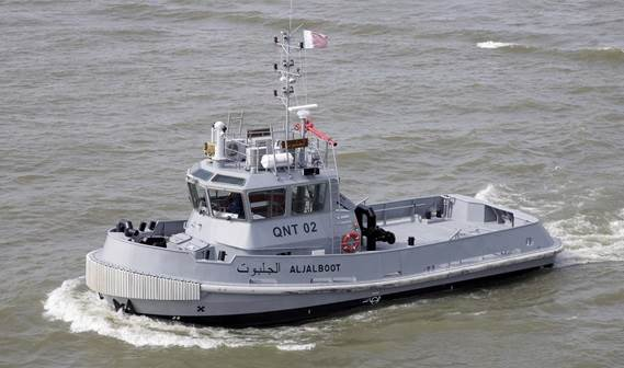Thirty years after their first Damen vessels entered into service, the Qatar Emiri Naval Forces recently added two Damen Stan 1907 Tugs to its fleet.