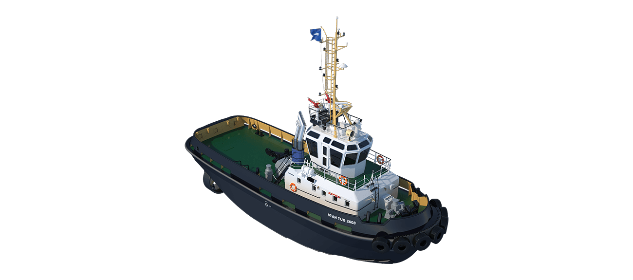Damen Stan Tug 2608 has excellent seakeeping behaviour, superb manoeuvrability and outstanding towing characteristics