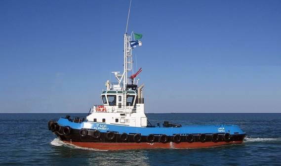 The Socialist Ports Company has taken delivery of its new Damen Stan 2608 Tug 'Al Iradah 7'.
