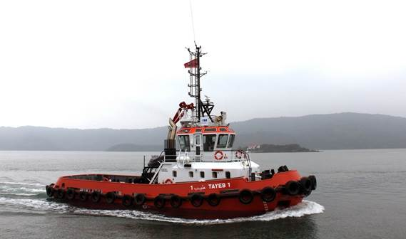 In June 2013, the first of two Stan 2608 Tugs was delivered to Offshore Maroc.