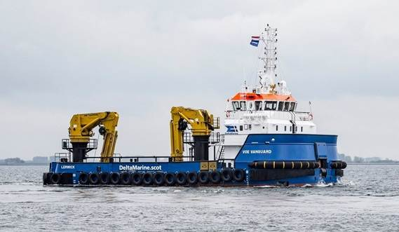 Renewables Service Vessel (RSV) 3315, a new type, which has been developed in close cooperation with Scottish company Delta Marine.