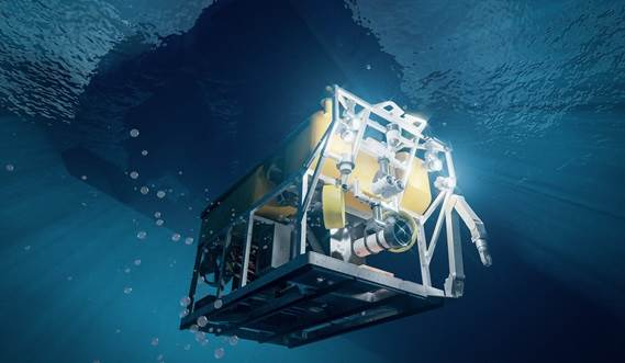 dmb 8020 - rov deploy - under water