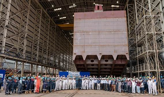 Keel laying ceremony Multibuster 8020 @ Damen Albwardy