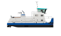 Damen has a range of standard Pusher Tug designs.