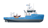 This workboat is designed to support a wide range of offshore and coastal activities