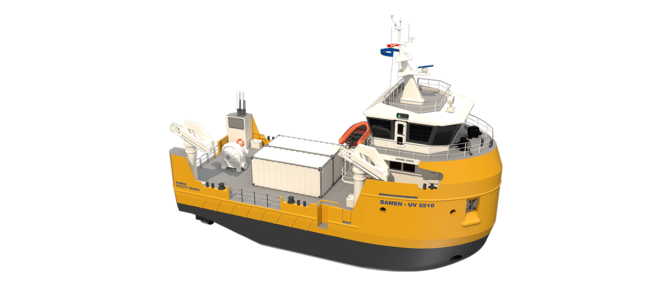 damen utility vessel 2510 aquaculture support vessel