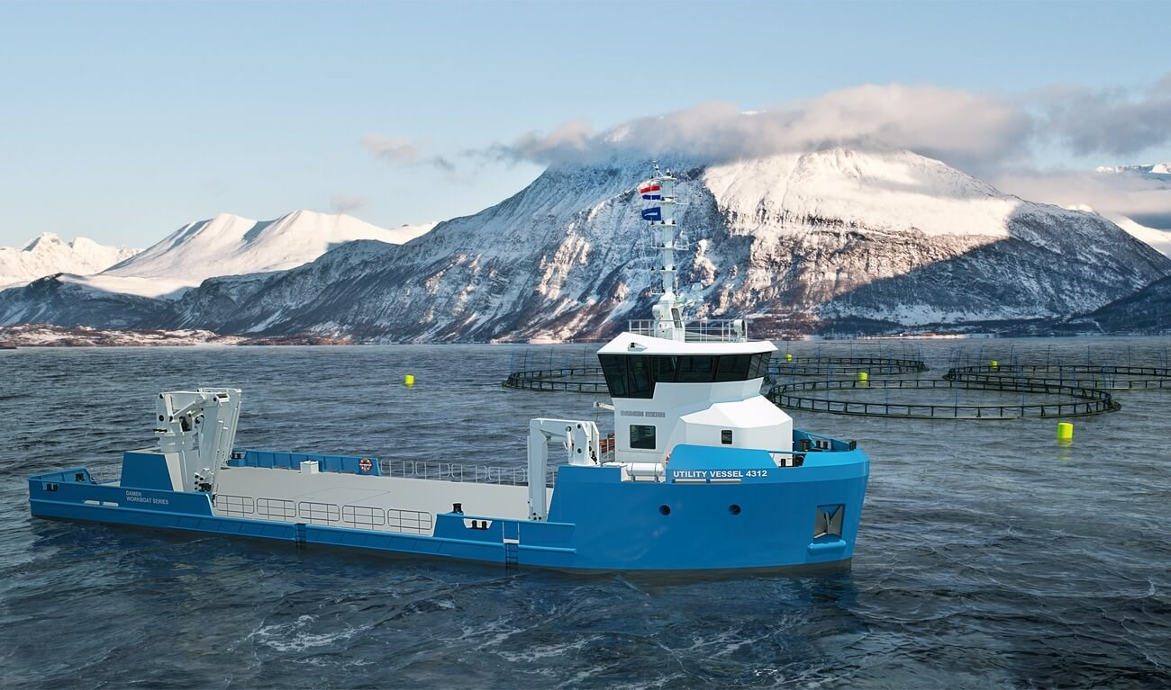 This workboat is designed to support a wide range of offshore and coastal activities.