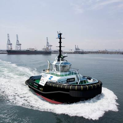 alan mcpherson about the delivery of damen asd tug 2312