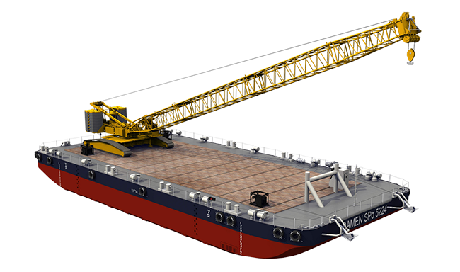 Crawler Crane Pontoon Ideal For Use With A Mobile Crane